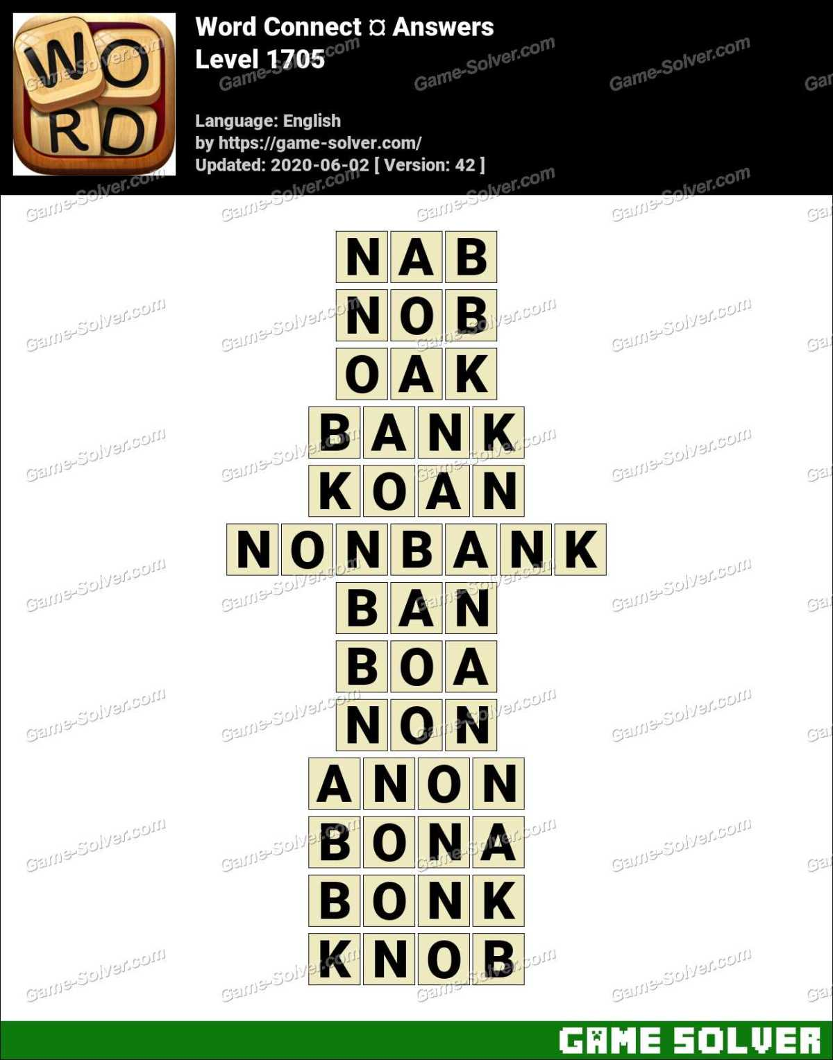 Word Connect Level 1705 Answers