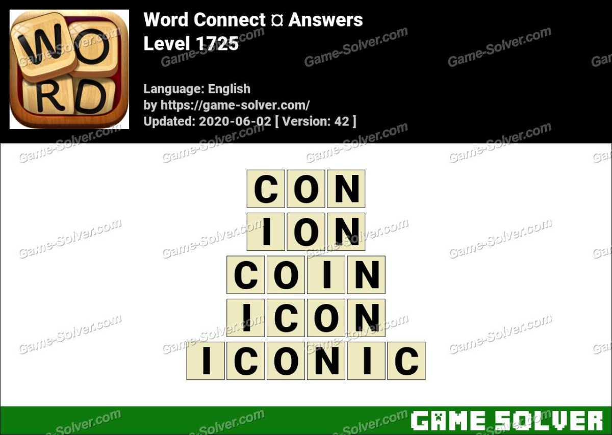 Word Connect Level 1725 Answers