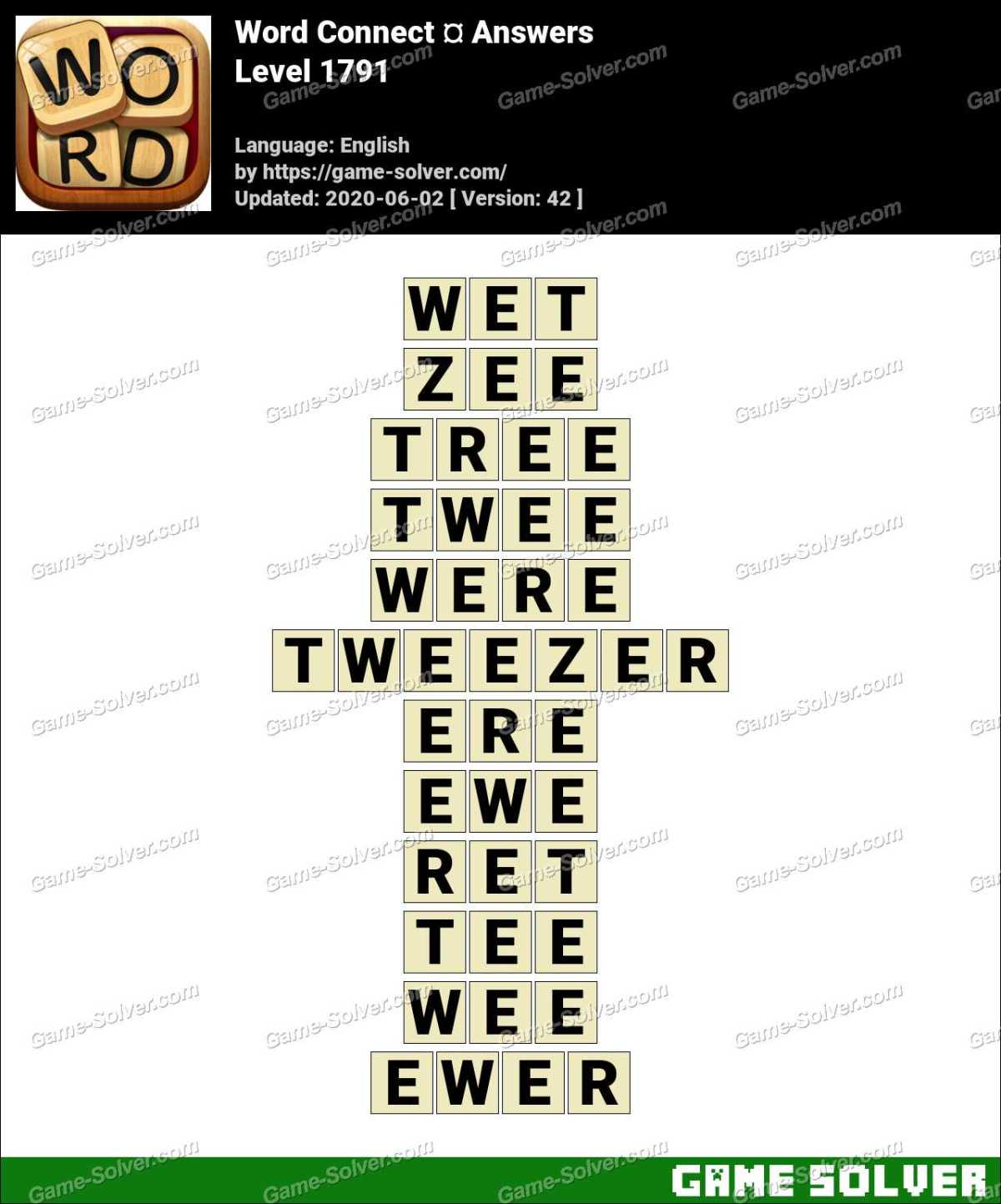 Word Connect Level 1791 Answers