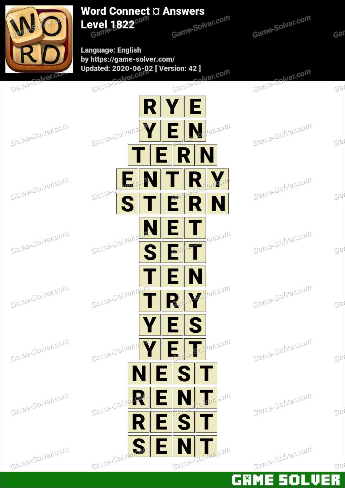 Word Connect Level 1822 Answers