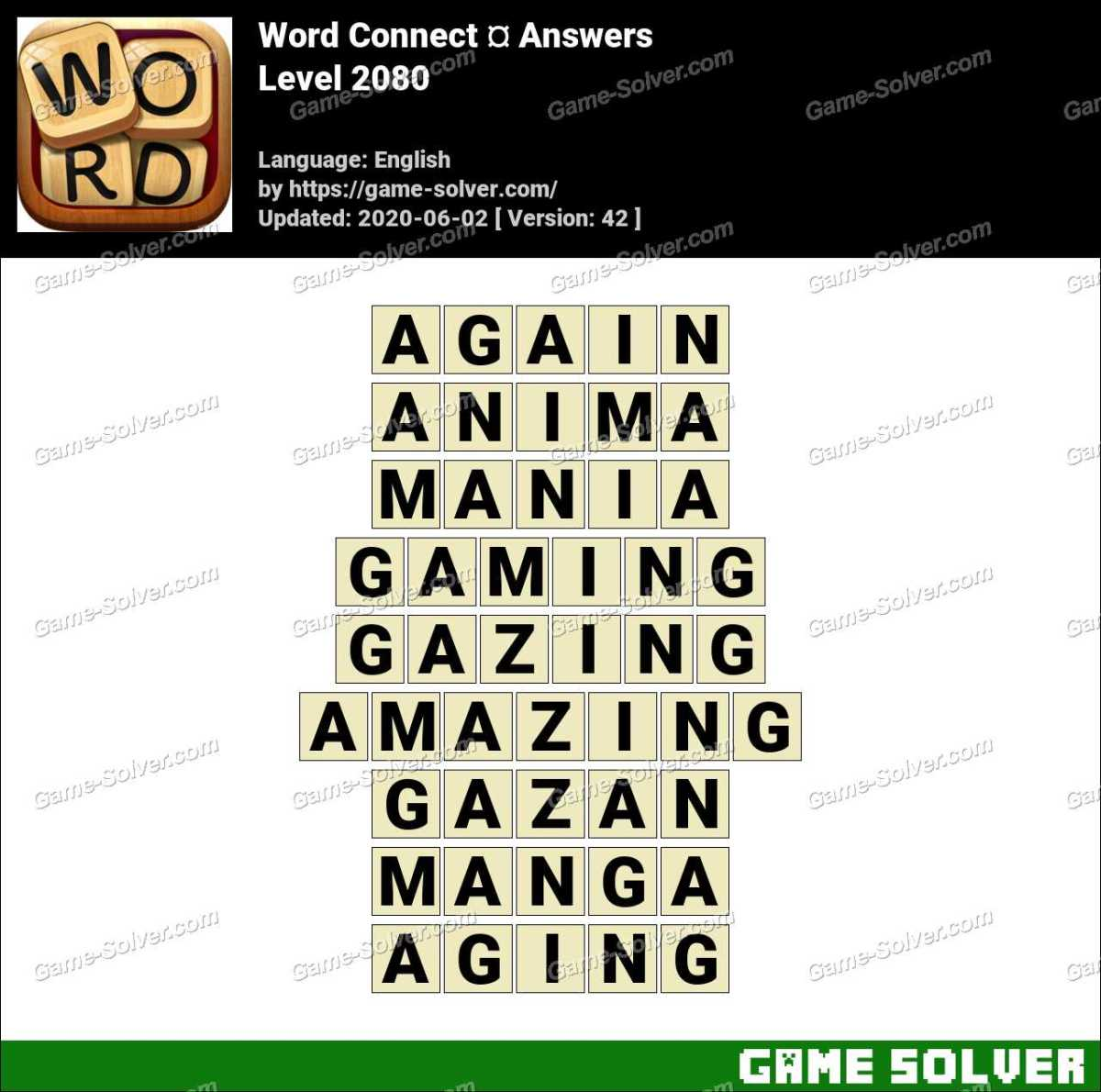 Word Connect Level 2080 Answers