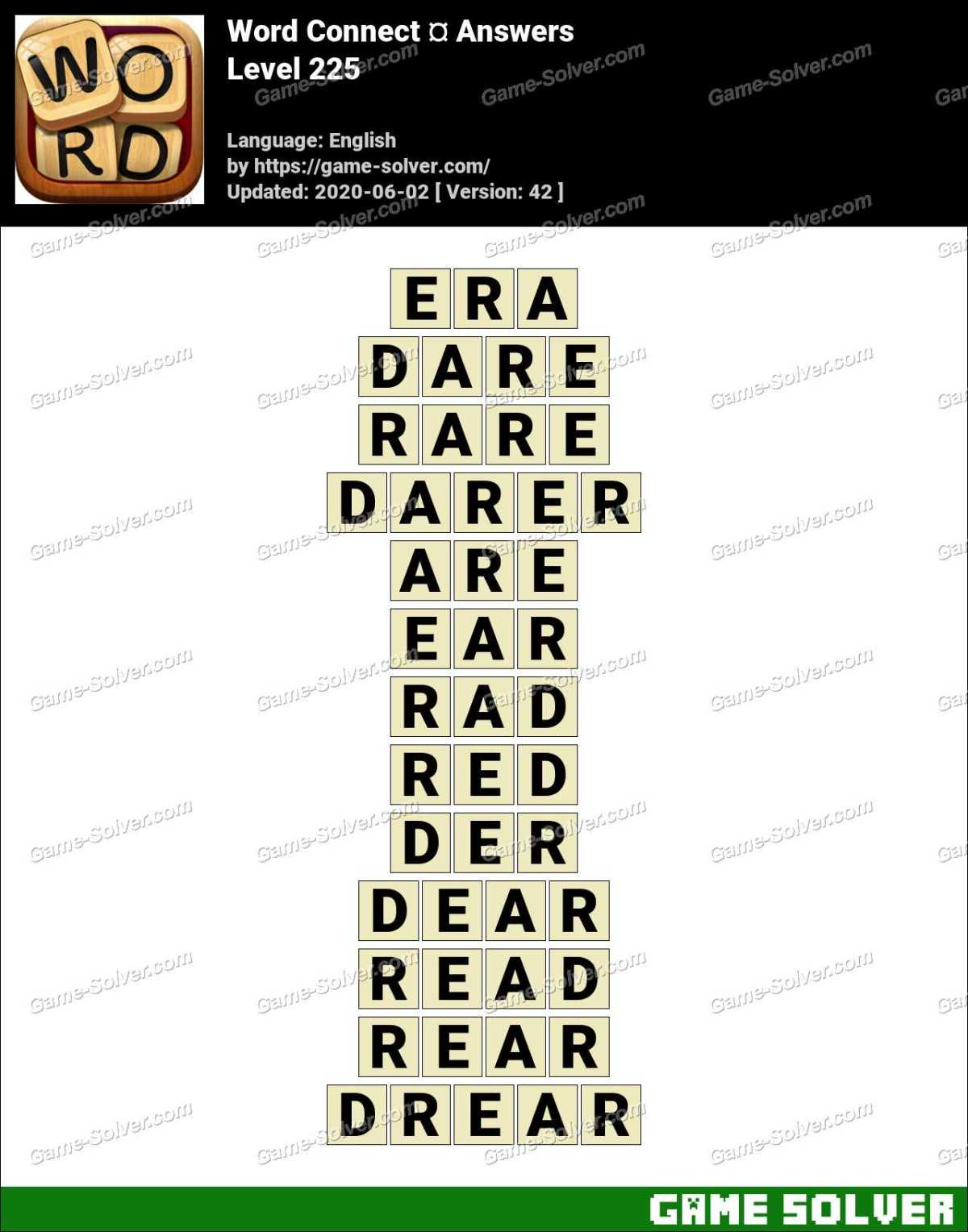 Word Connect Level 225 Answers