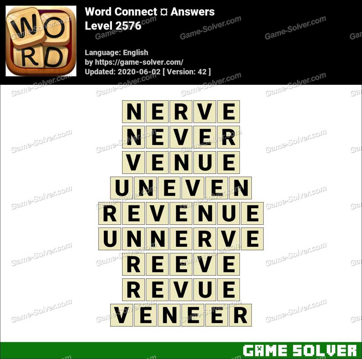 Word Connect Level 2576 Answers
