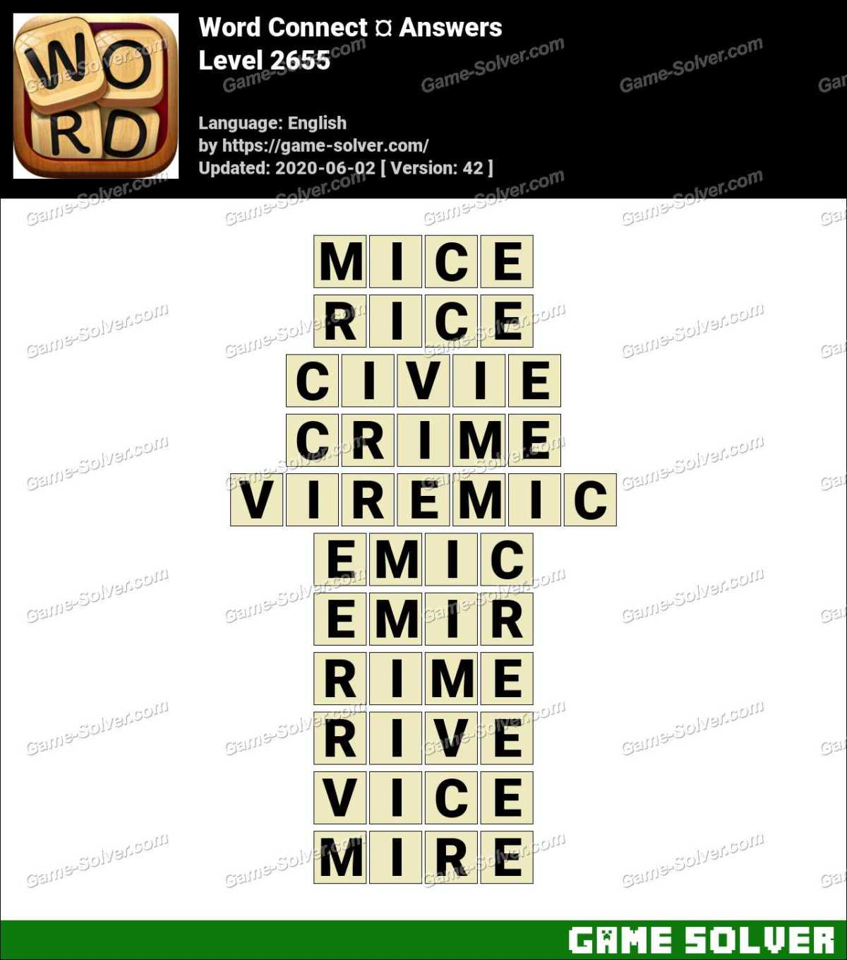 Word Connect Level 2655 Answers