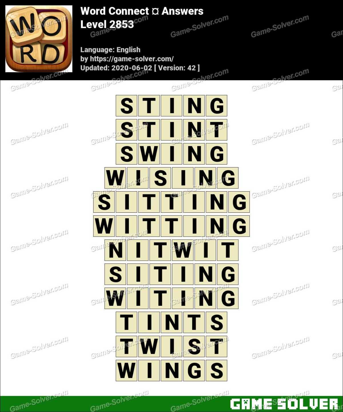 Word Connect Level 2853 Answers