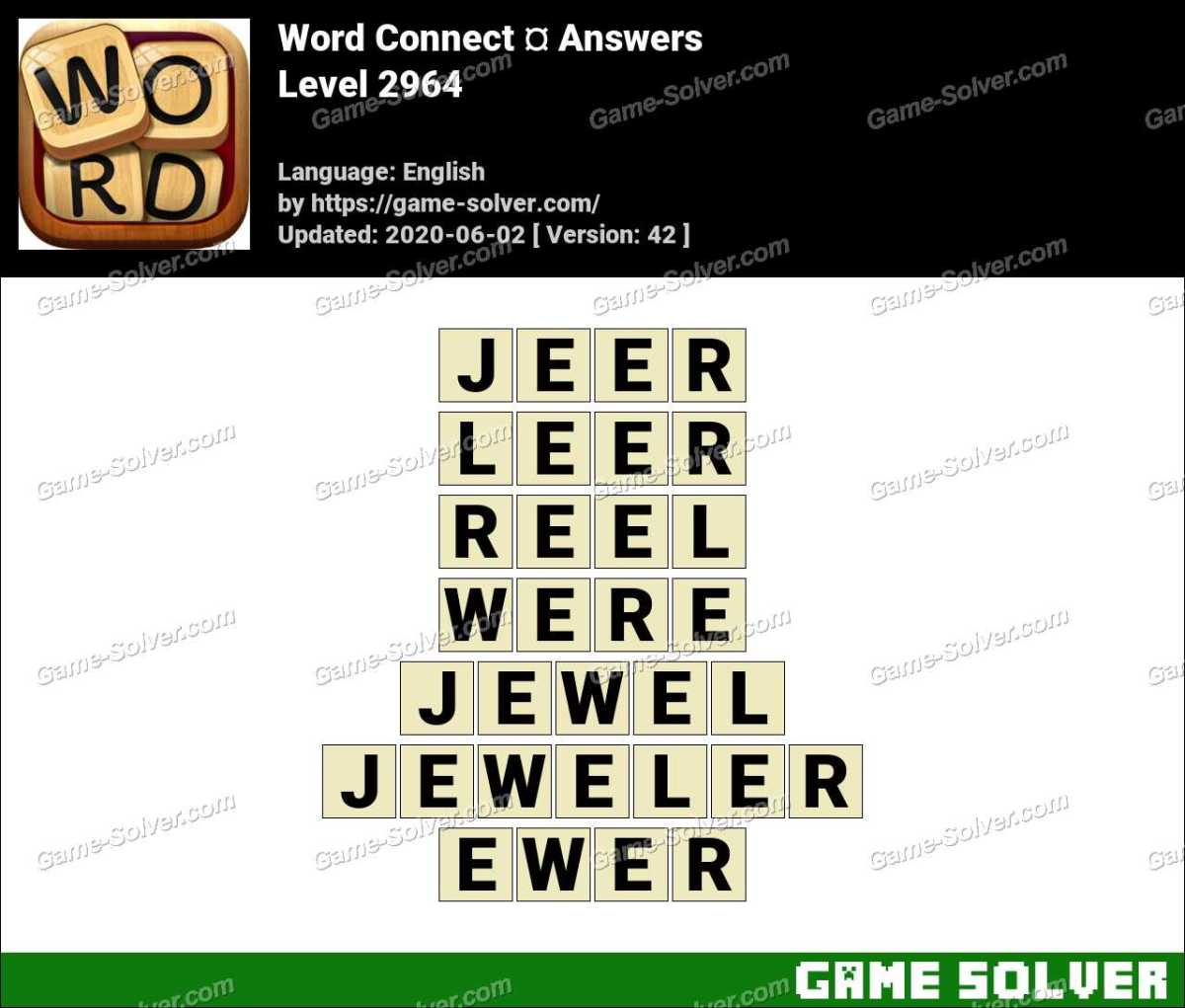 Word Connect Level 2964 Answers