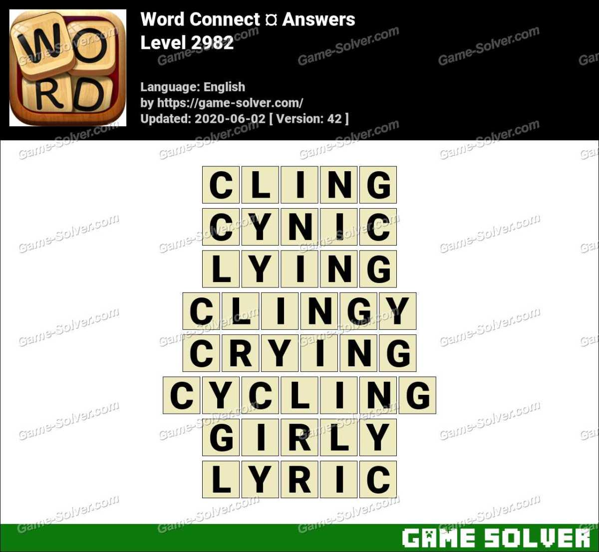 Word Connect Level 2982 Answers