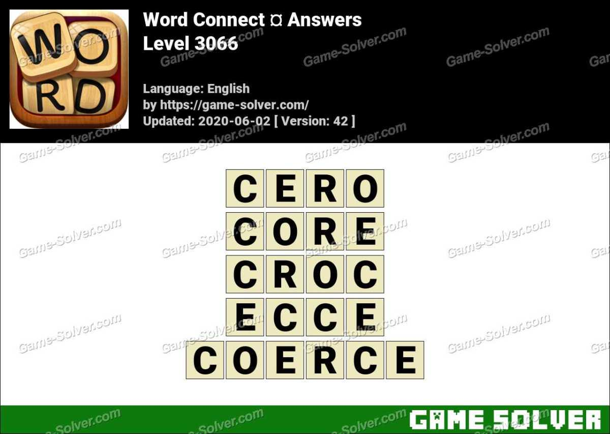 Word Connect Level 3066 Answers
