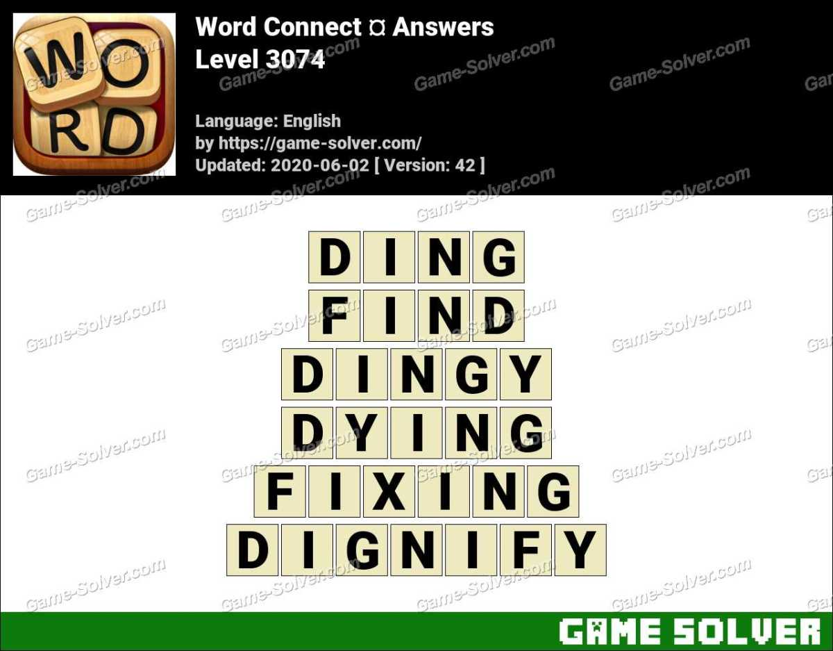 Word Connect Level 3074 Answers