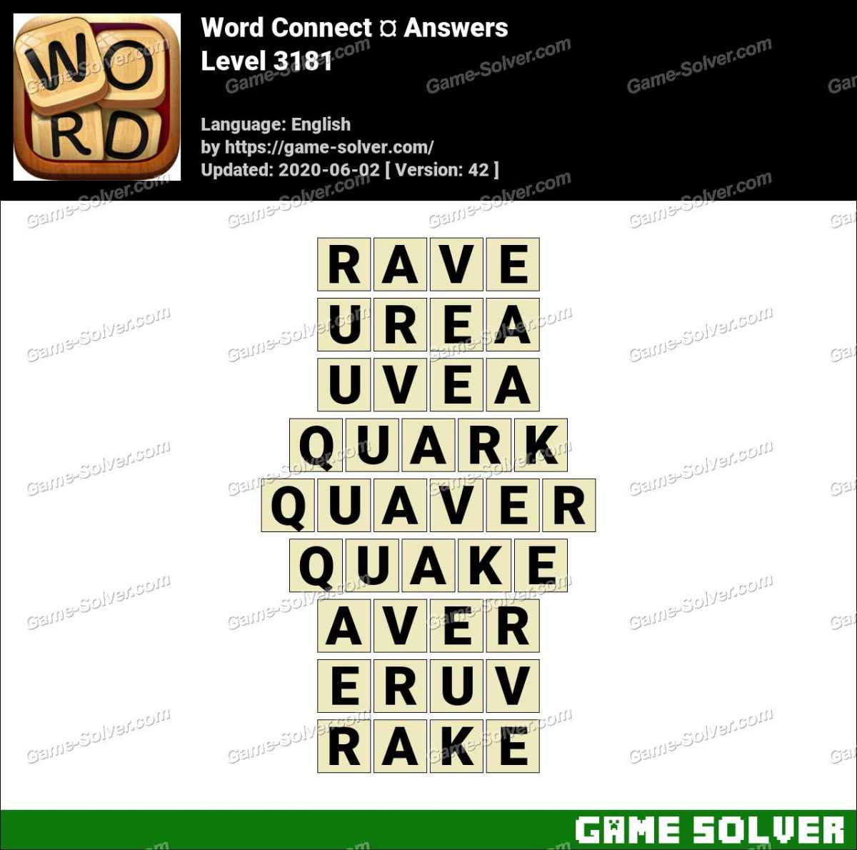 Word Connect Level 3181 Answers