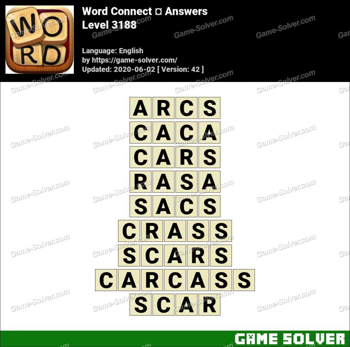 Word Connect Level 3188 Answers