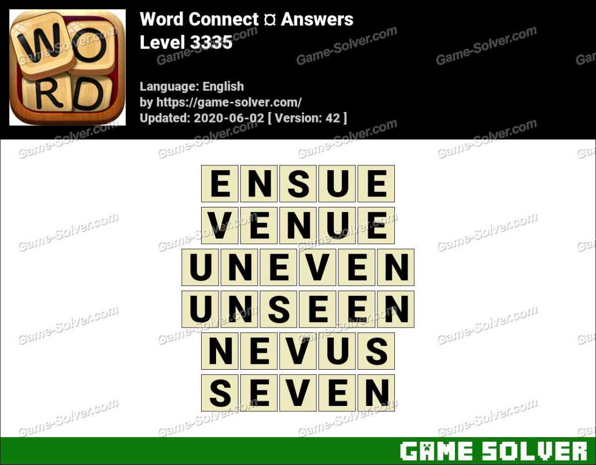 Word Connect Level 3335 Answers