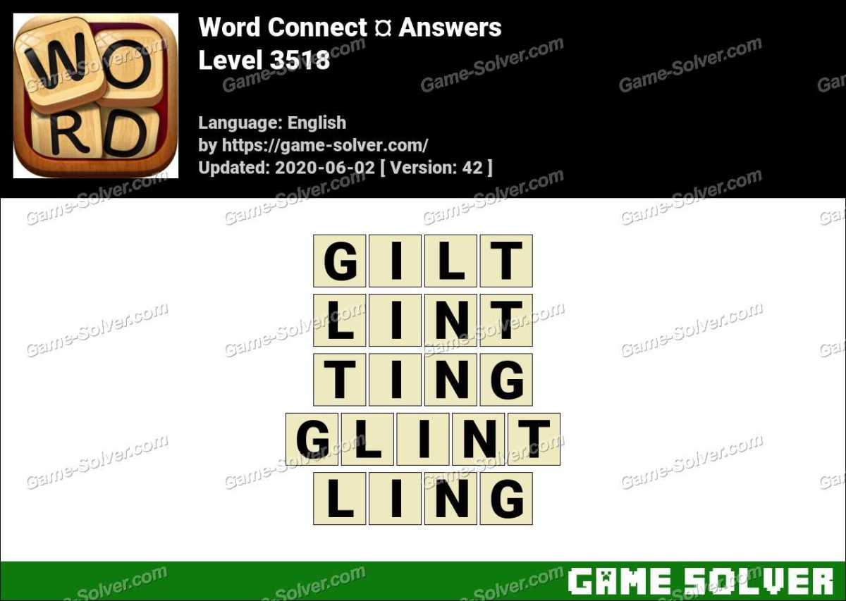 Word Connect Level 3518 Answers