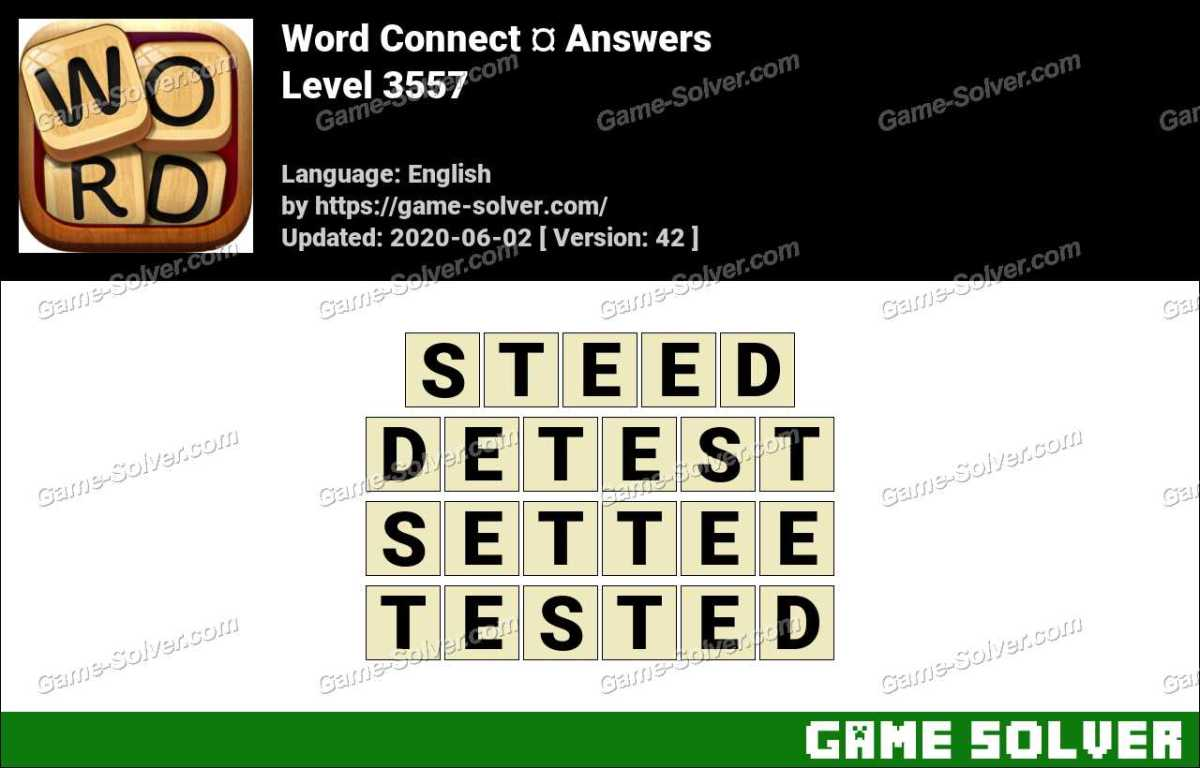 Word Connect Level 3557 Answers