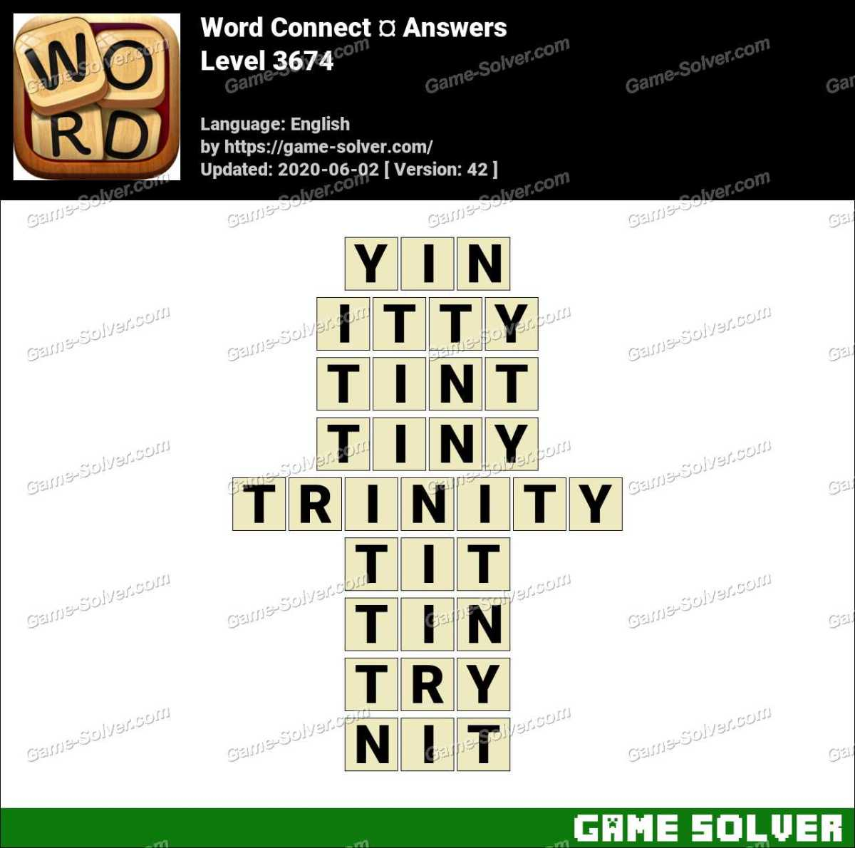 Word Connect Level 3674 Answers
