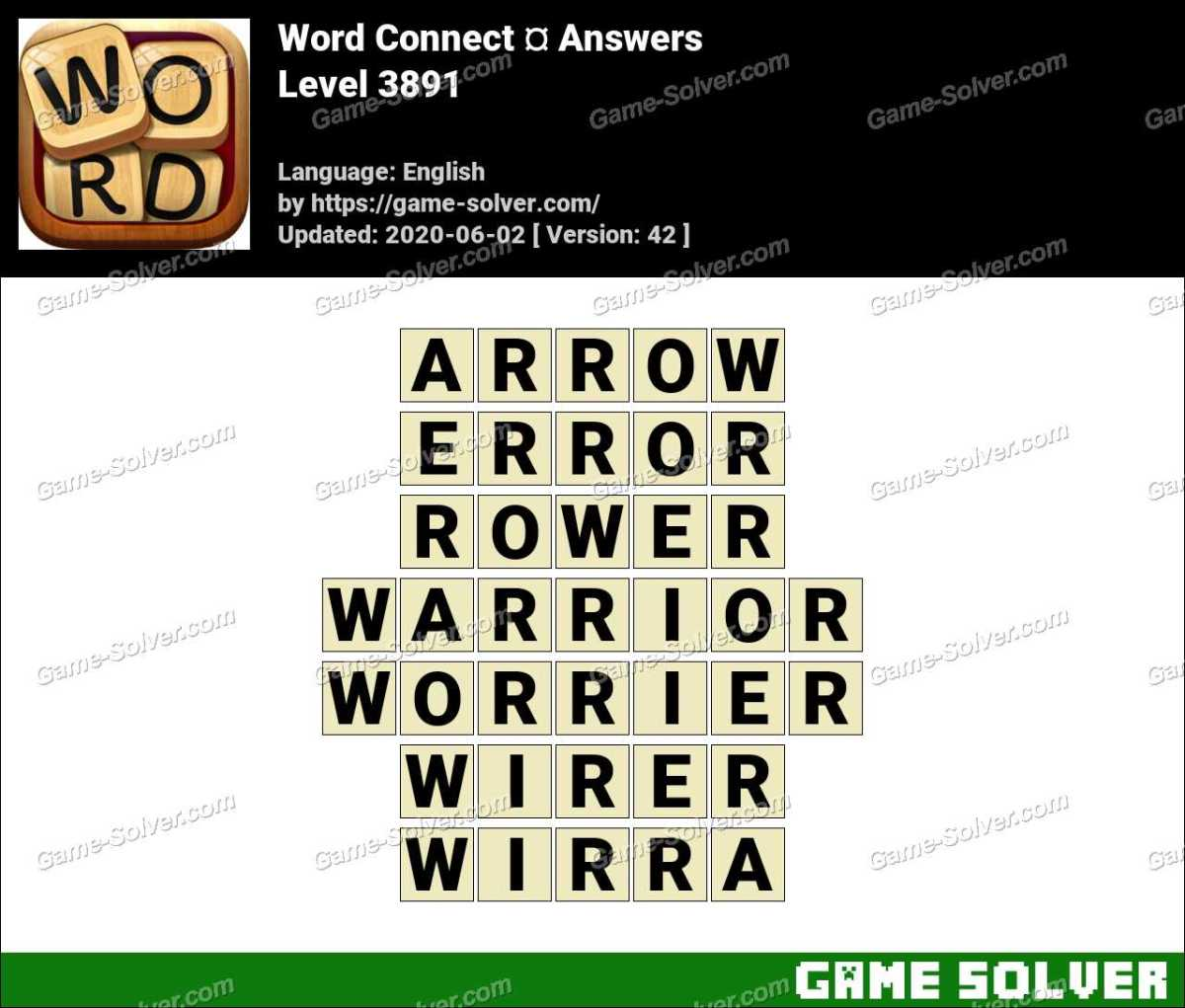 Word Connect Level 3891 Answers
