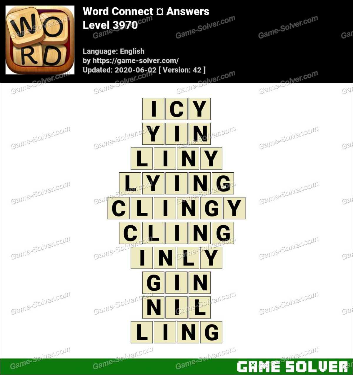 Word Connect Level 3970 Answers