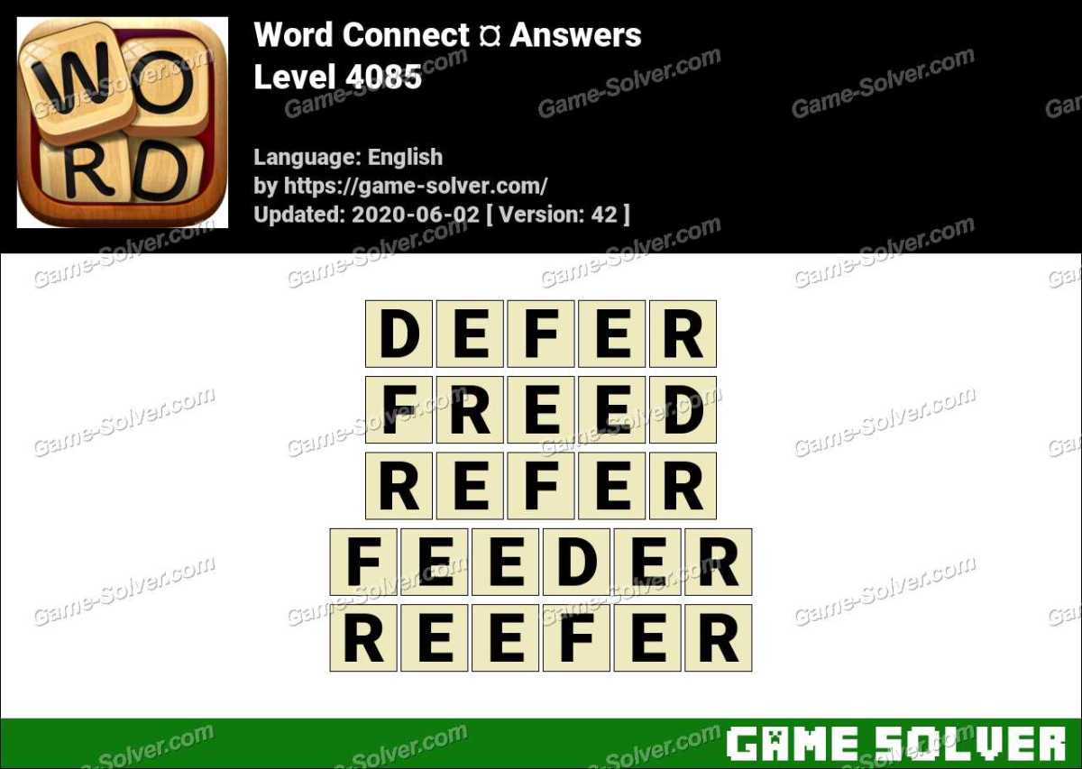 Word Connect Level 4085 Answers