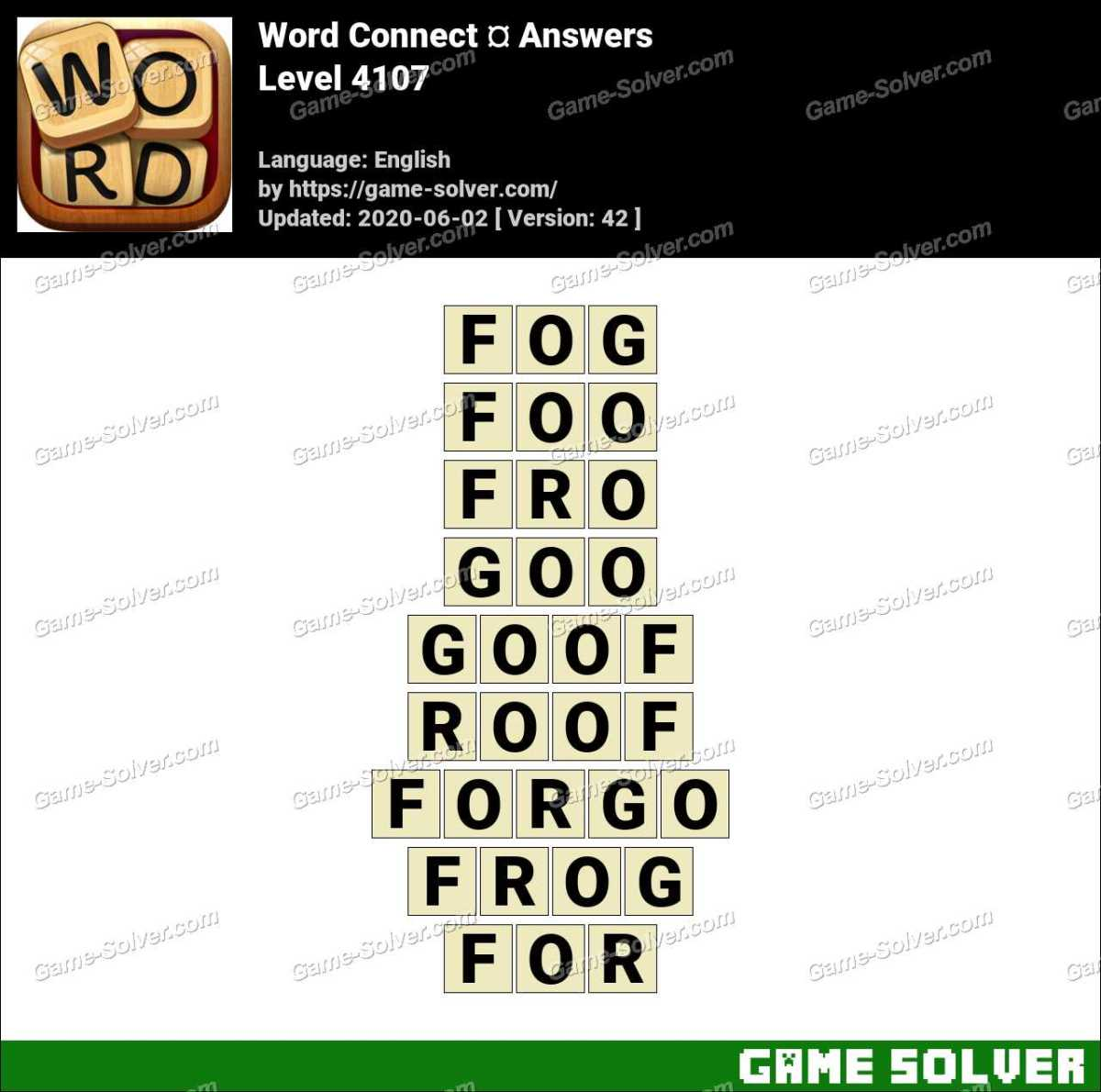 Word Connect Level 4107 Answers