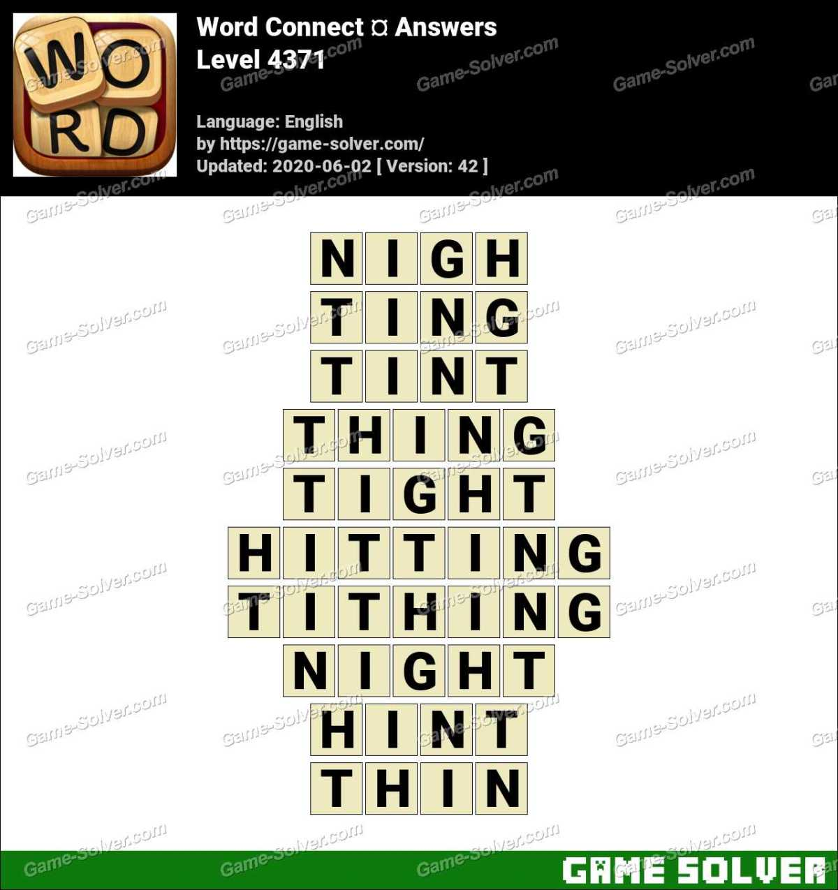 Word Connect Level 4371 Answers