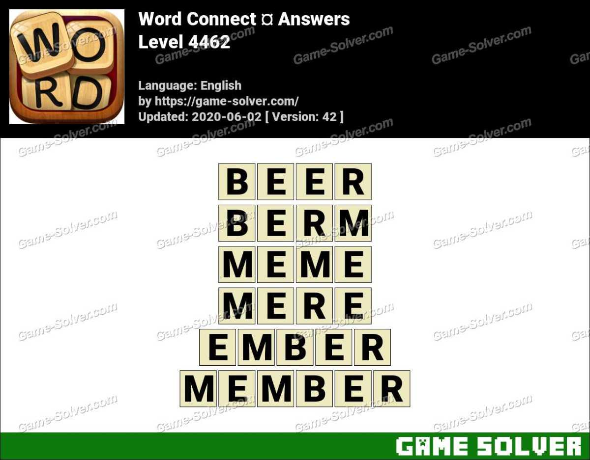 Word Connect Level 4462 Answers