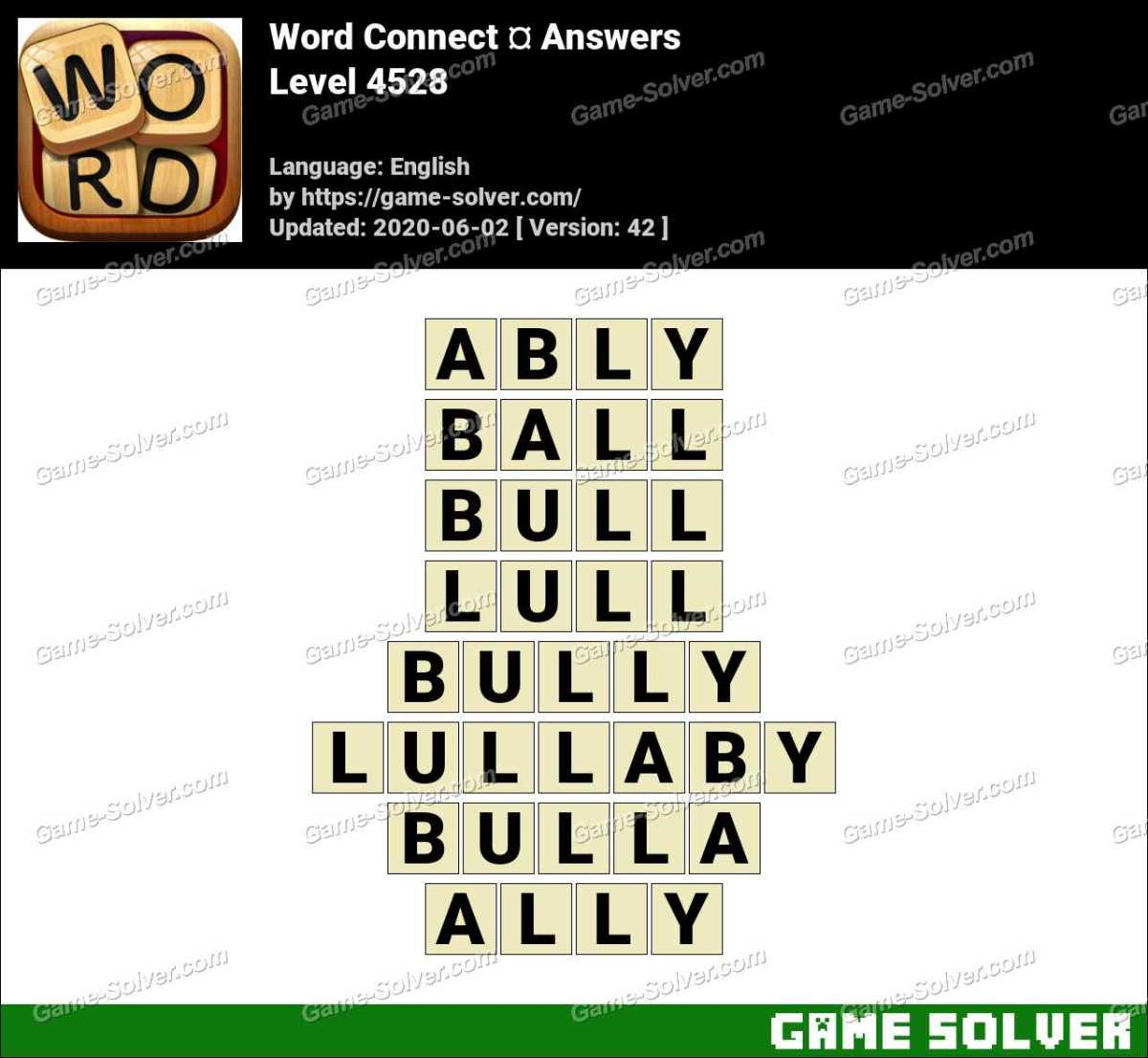 Word Connect Level 4528 Answers