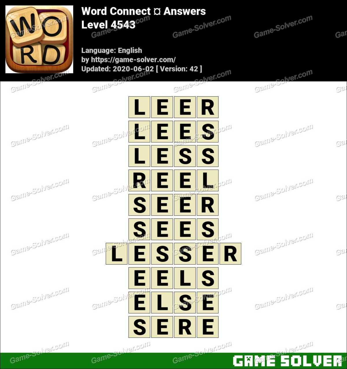 Word Connect Level 4543 Answers
