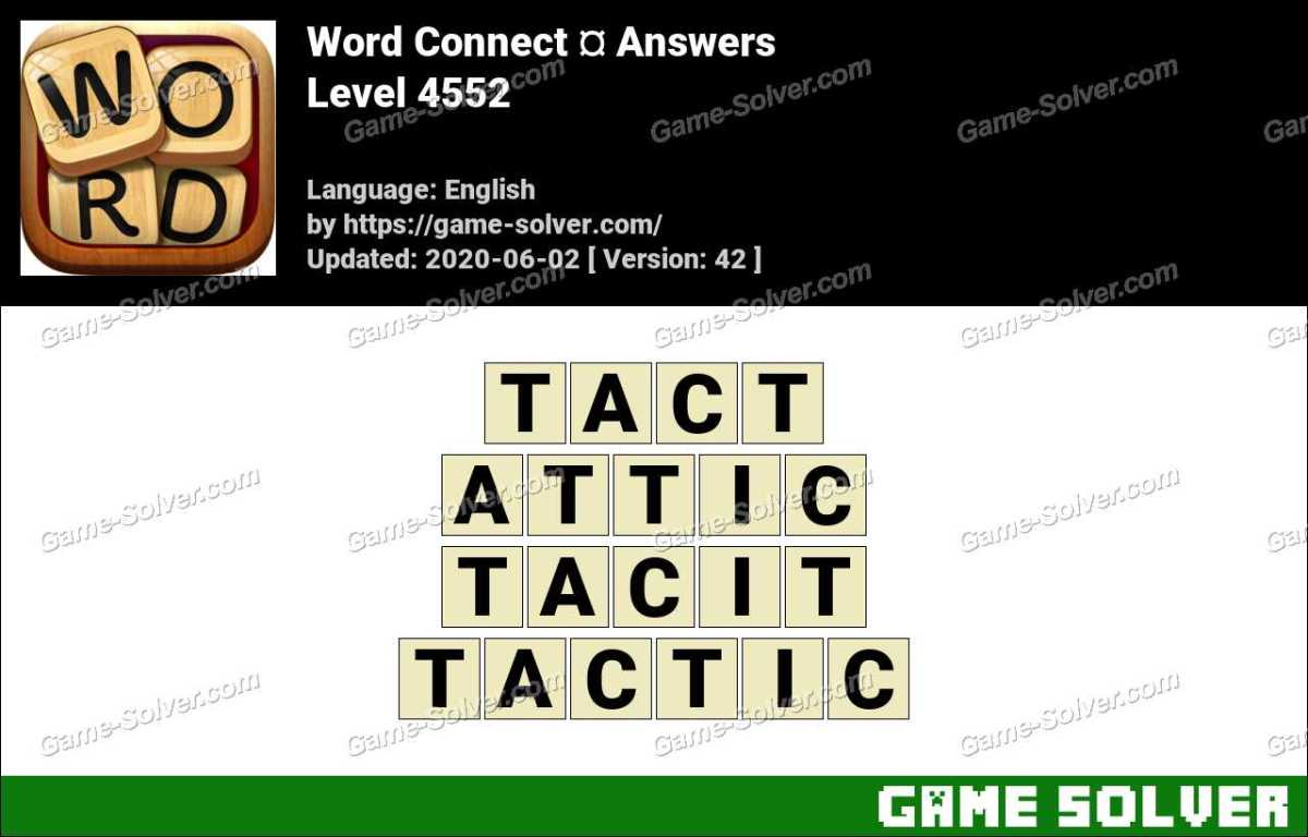 Word Connect Level 4552 Answers