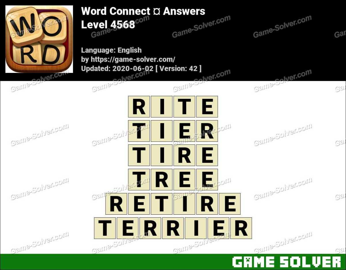 Word Connect Level 4568 Answers