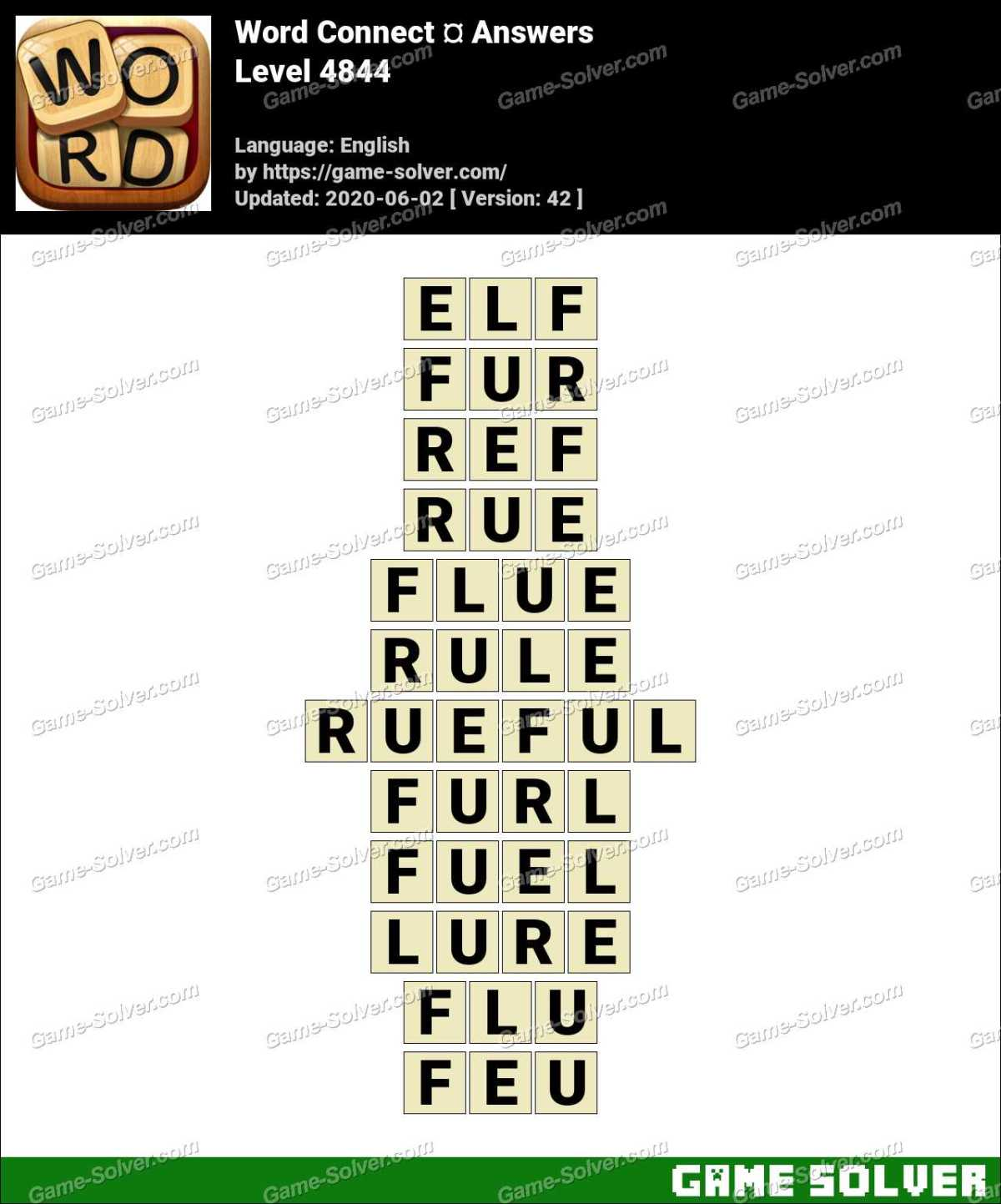 Word Connect Level 4844 Answers