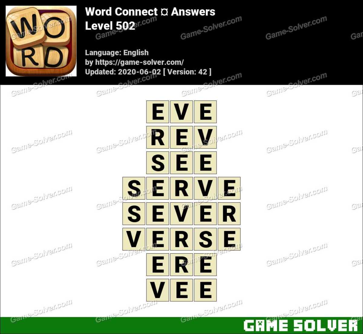 Word Connect Level 502 Answers