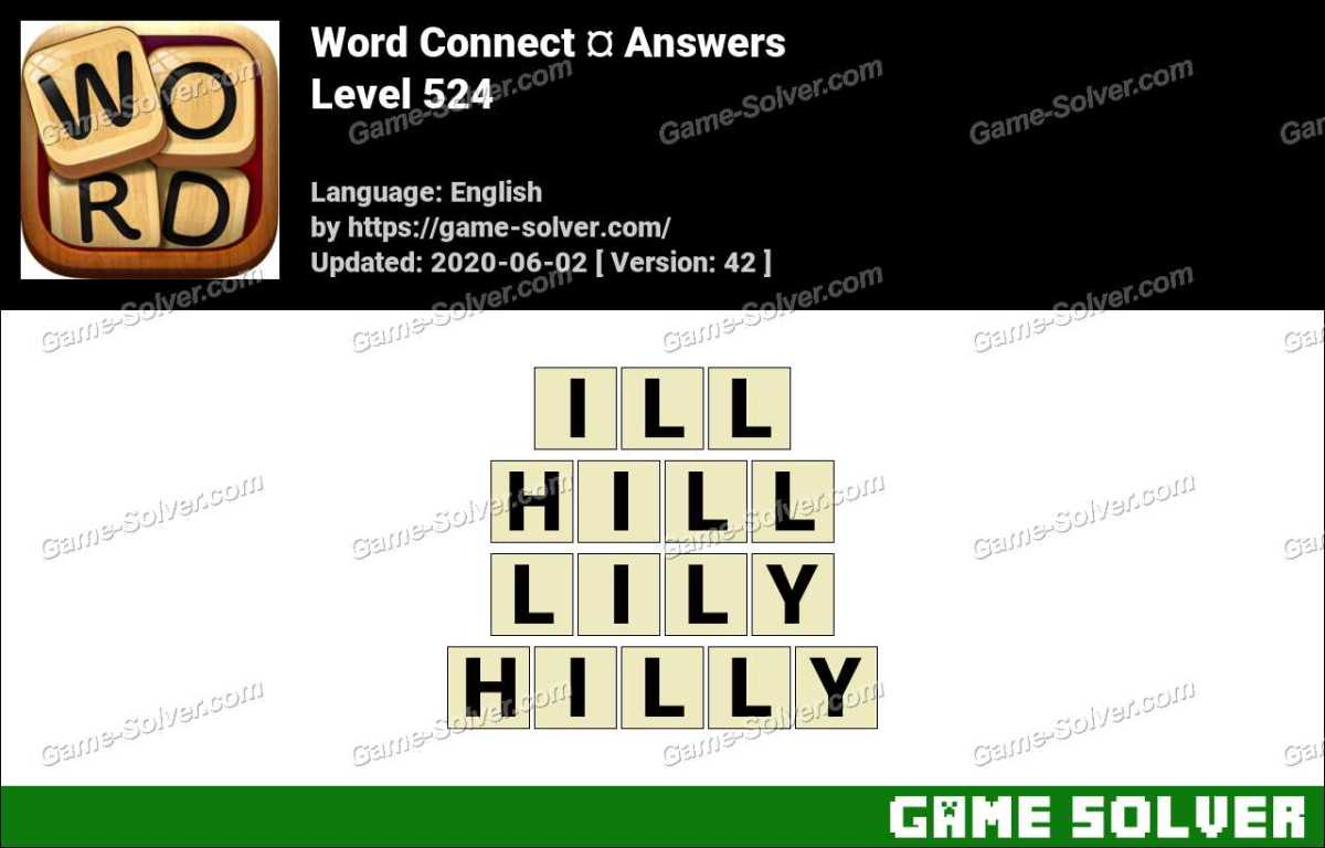 Word Connect Level 524 Answers