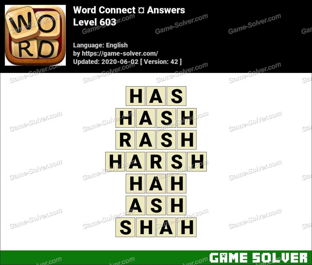 Word Connect Level 603 Answers