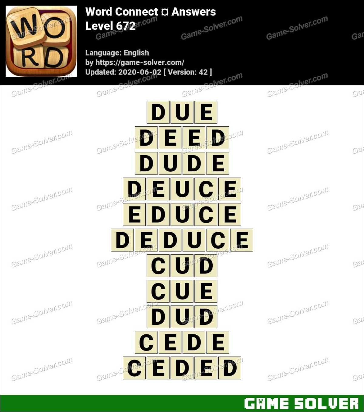 Word Connect Level 672 Answers