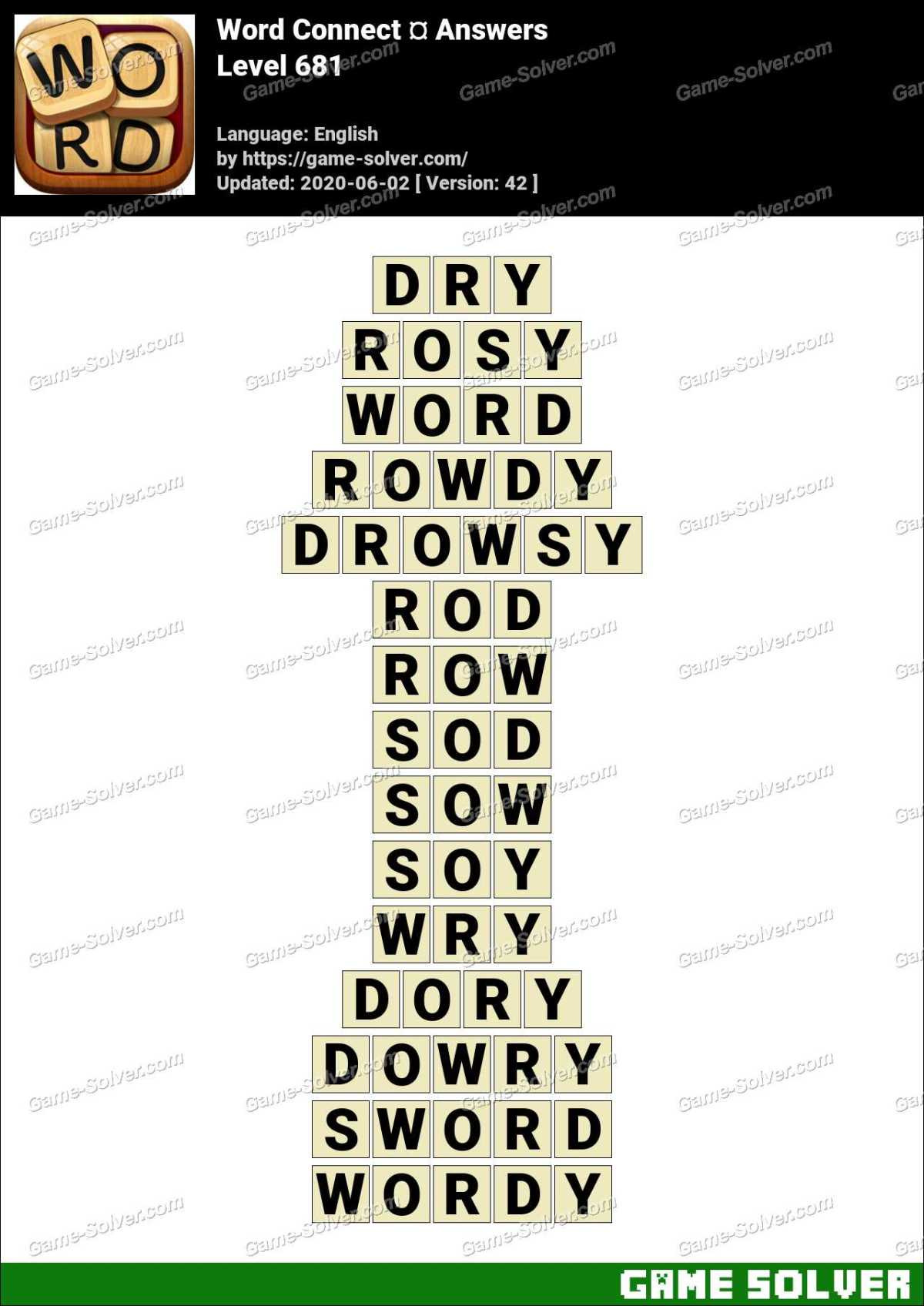 Word Connect Level 681 Answers