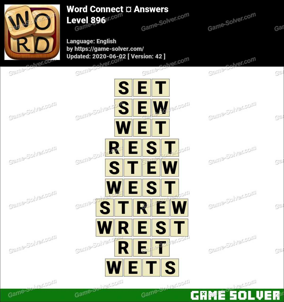 Word Connect Level 896 Answers