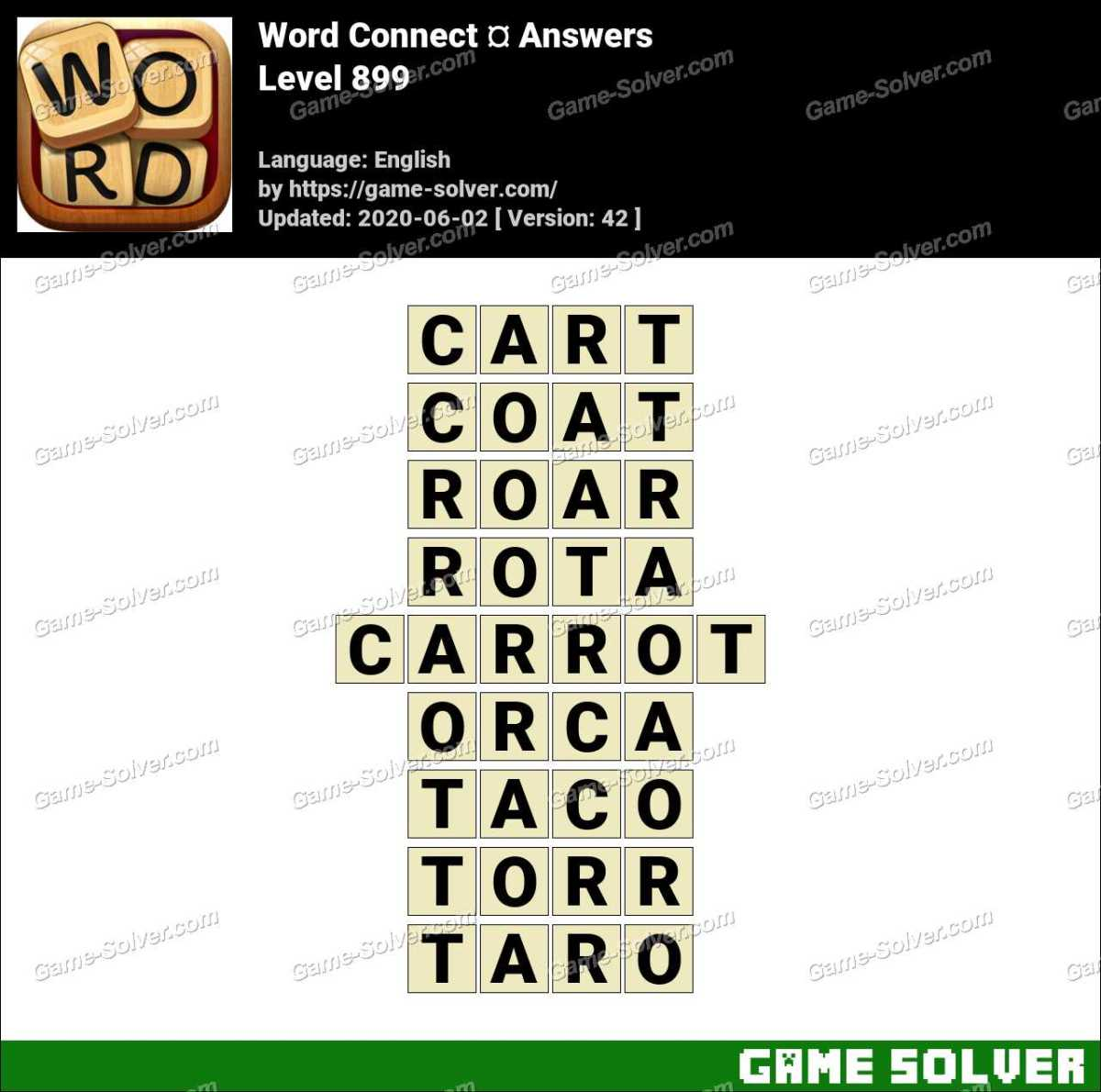 Word Connect Level 899 Answers