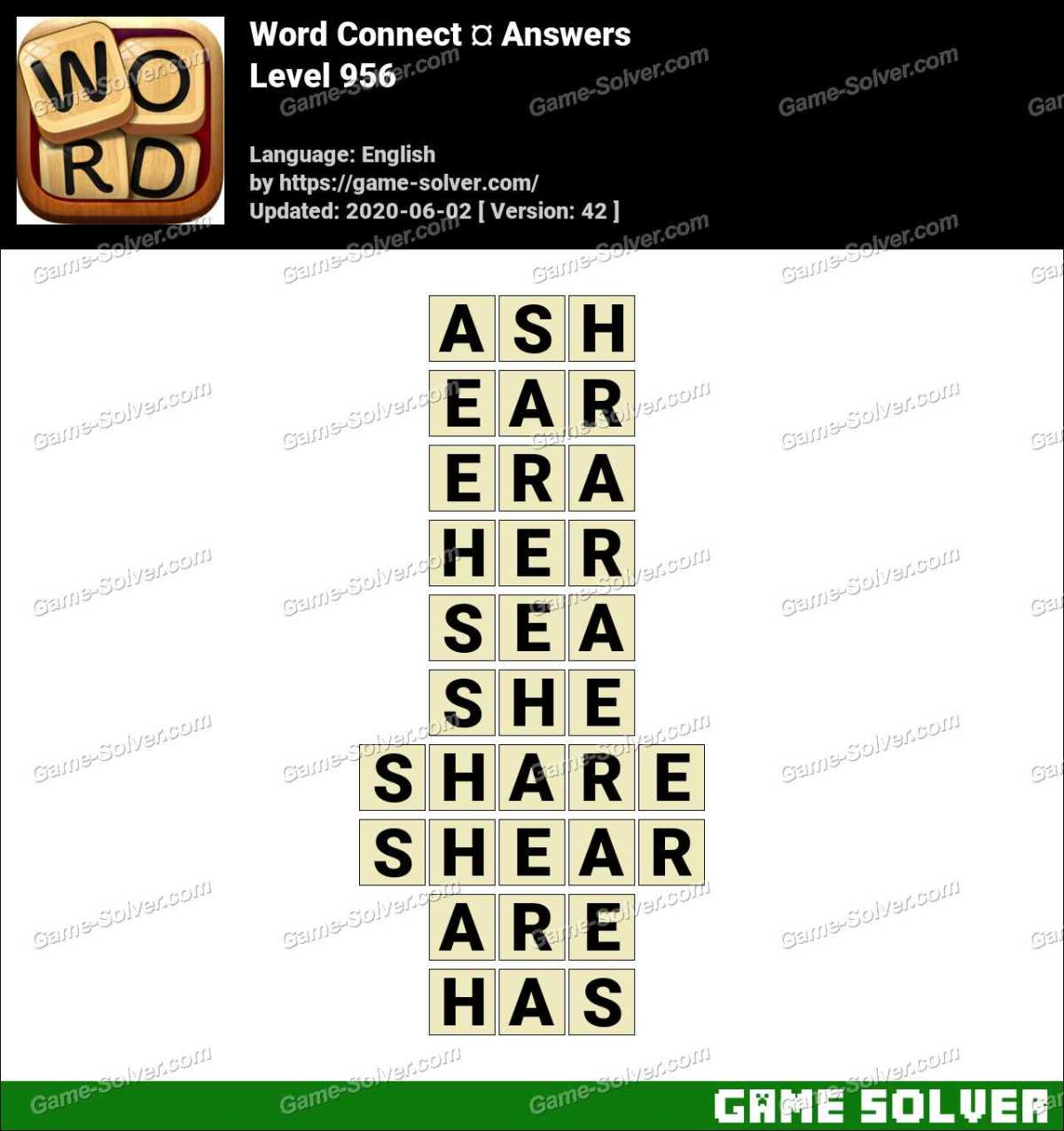 Word Connect Level 956 Answers