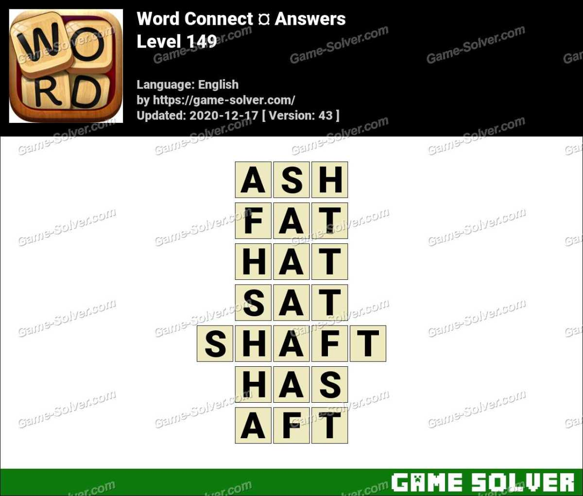 Word Connect Level 149 Answers