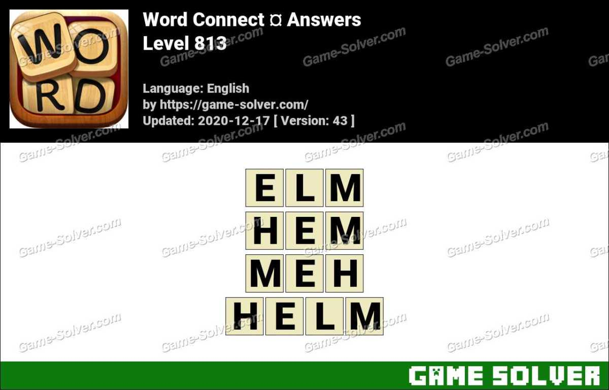 Word Connect Level 813 Answers