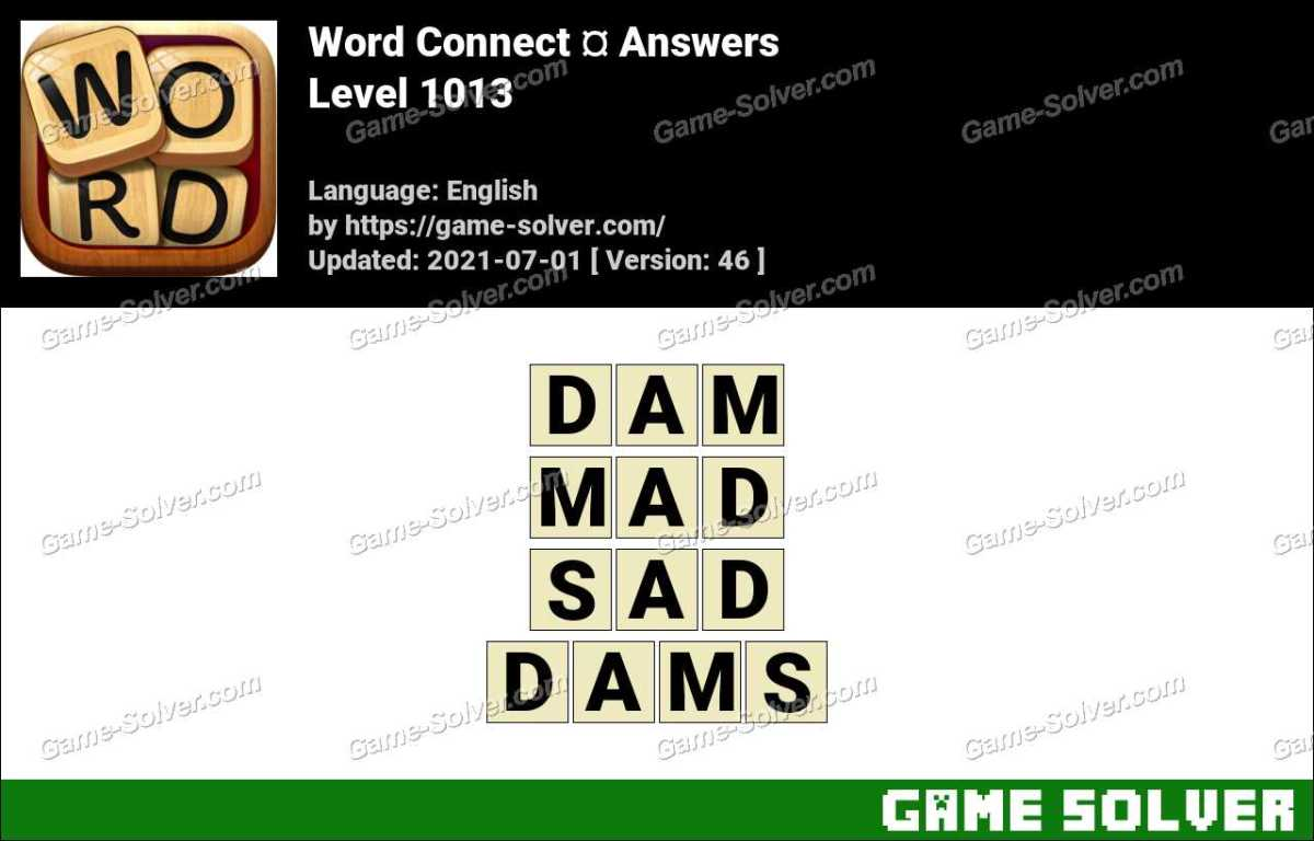 Word Connect Level 1013 Answers