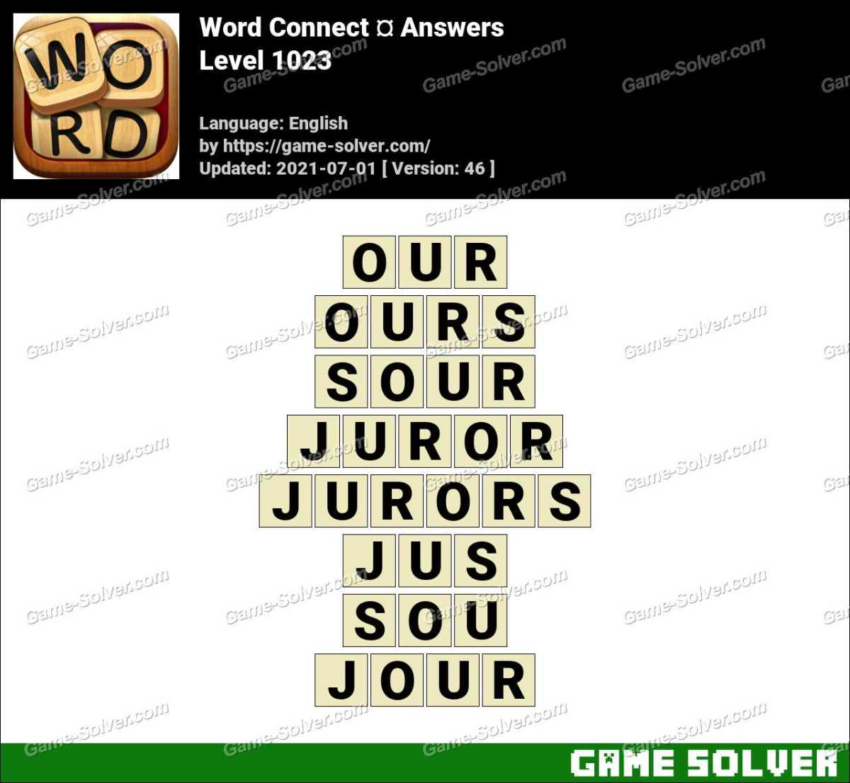 Word Connect Level 1023 Answers