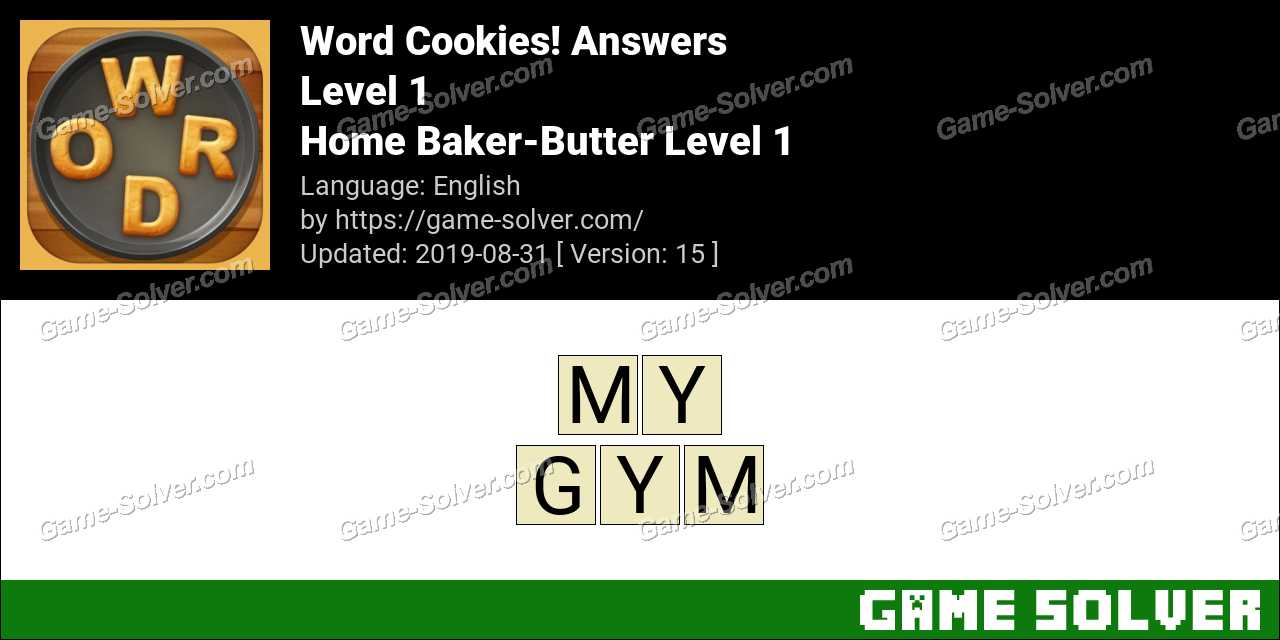 Word Cookies Home Baker-Butter Level 1 Answers
