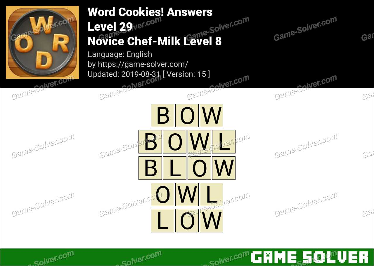Word Cookies Novice Chef-Milk Level 8 Answers