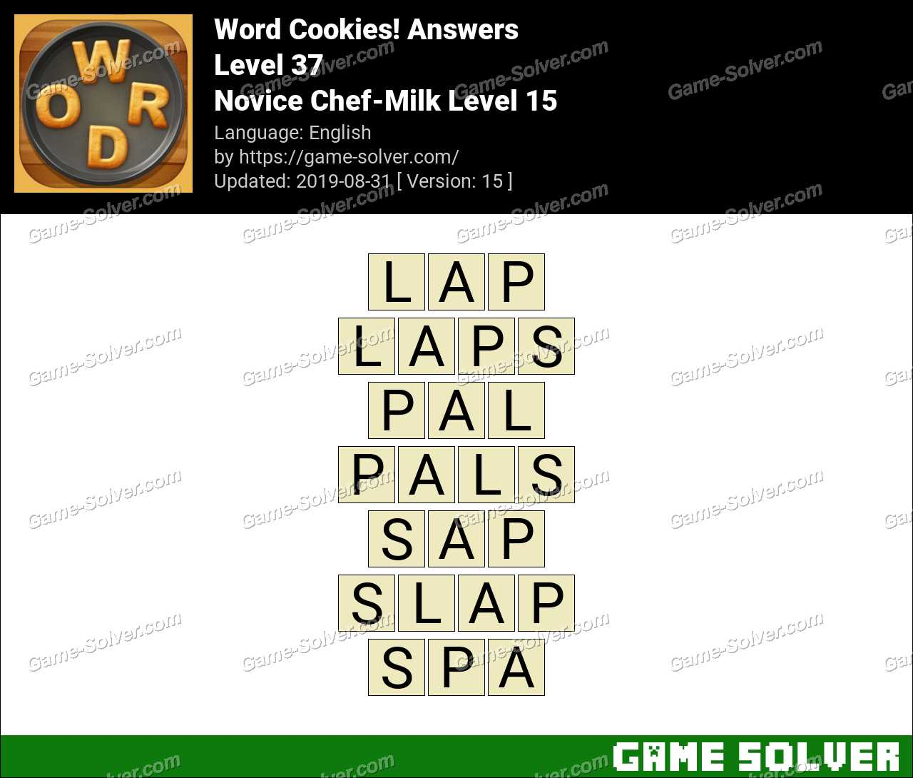 Word Cookies Novice Chef-Milk Level 15 Answers