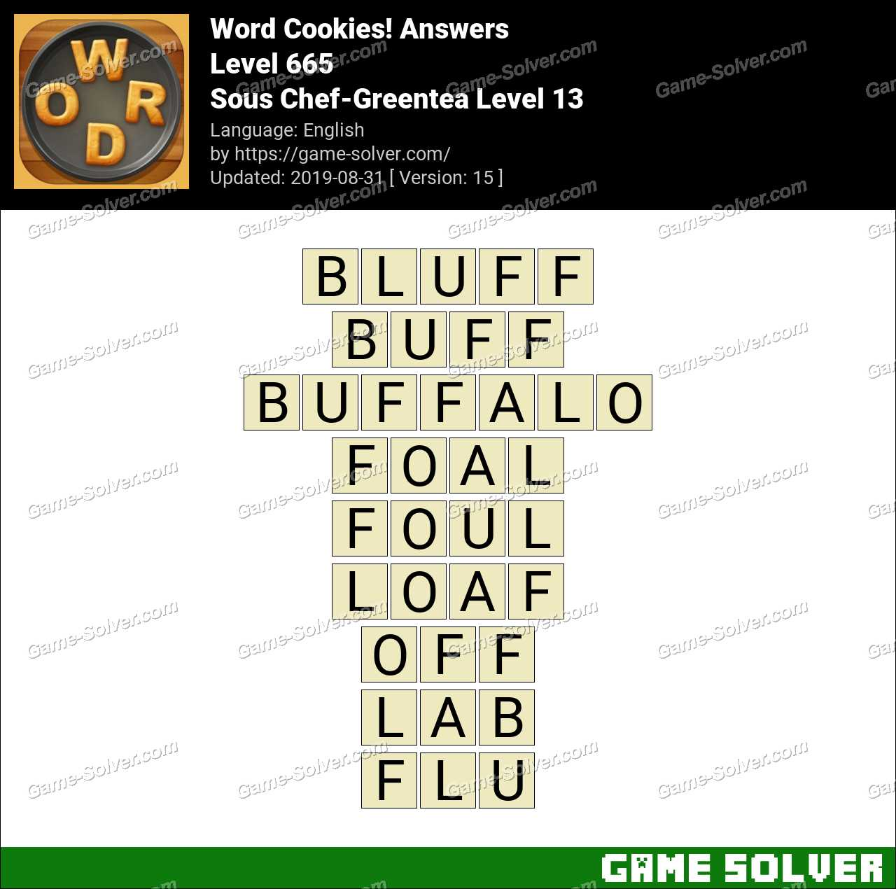 Word Cookies Sous Chef-Greentea Level 13 Answers
