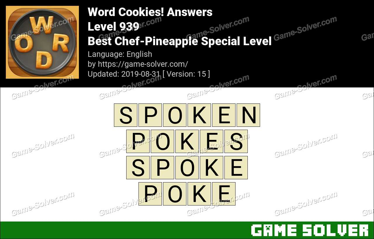 Word Cookies Best Chef-Pineapple Special Level Answers