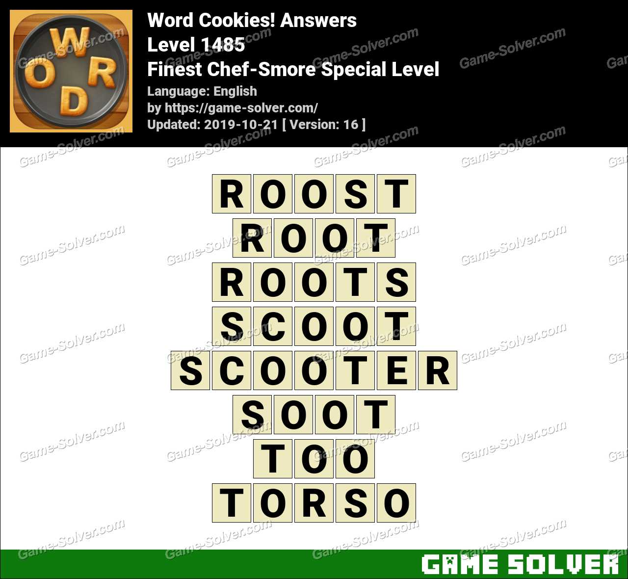 Word Cookies Finest Chef-Smore Special Level Answers