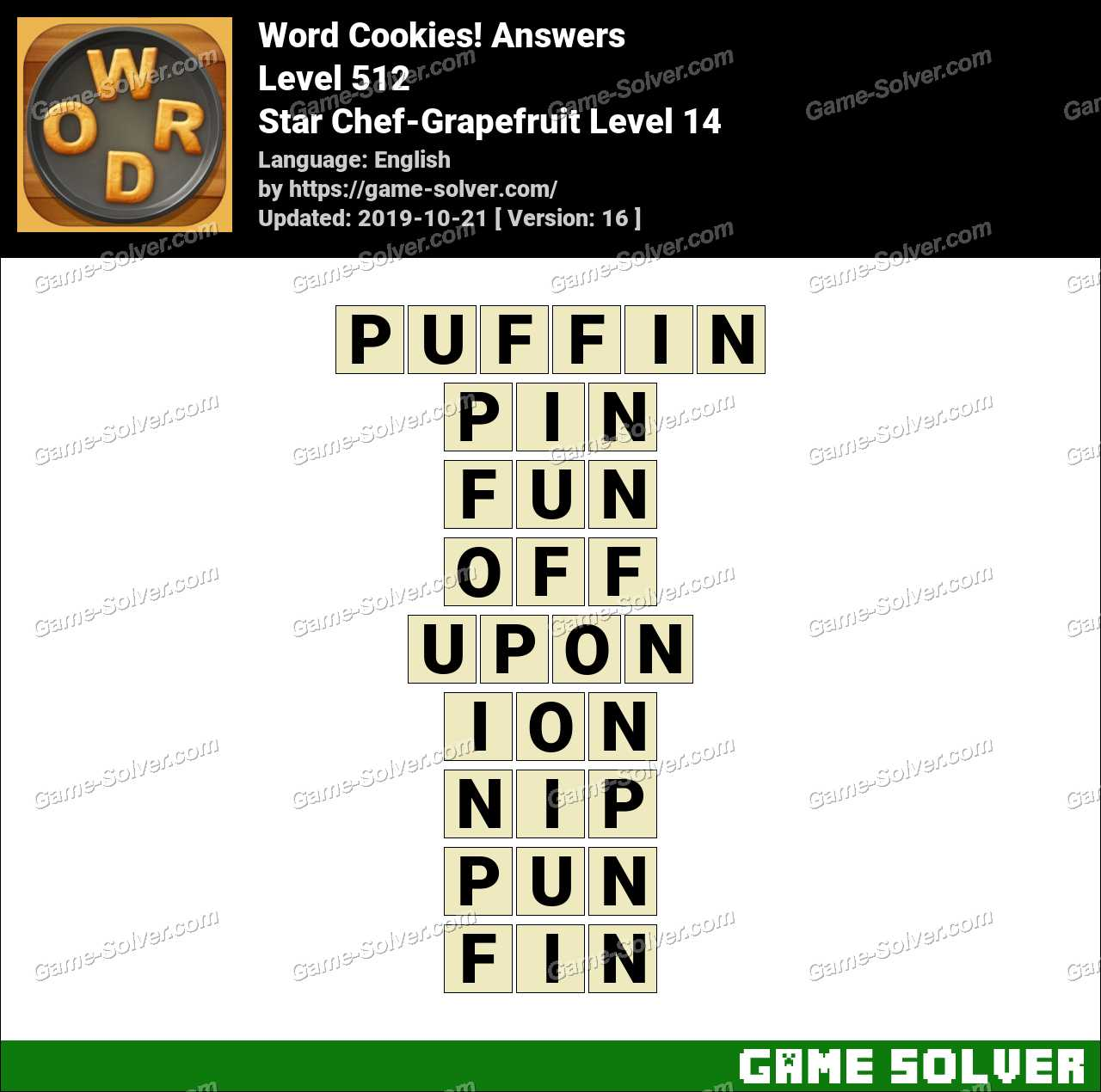 Word Cookies Star Chef-Grapefruit Level 14 Answers
