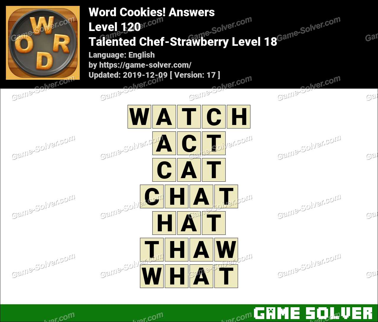 Word Cookies Talented Chef-Strawberry Level 18 Answers